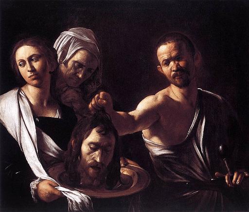 le caravage salome tete de jean baptiste