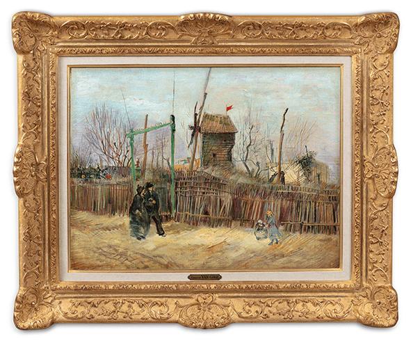 Tableau Scène de rue à Montmartre Van Gogh Sotheby's et Mirabeau Mercier 13,1 million 2021