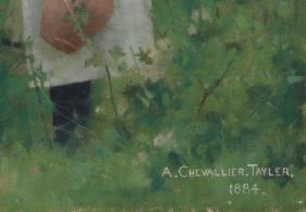 Signature Albert Chevallier Tayler