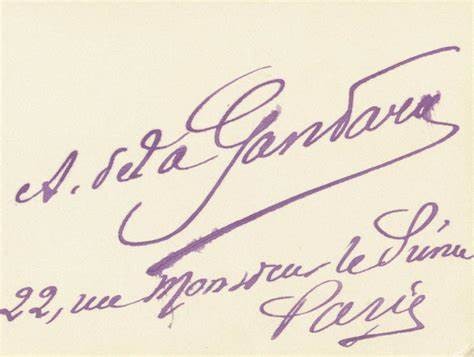 Signature Antonio De La Gandara