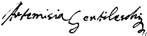 Signature Artemisia Gentileschi