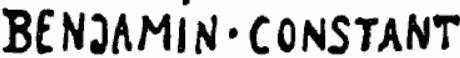 Signature Benjamin-Constant