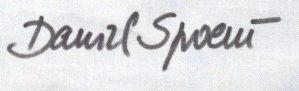 signature daniel spoerri