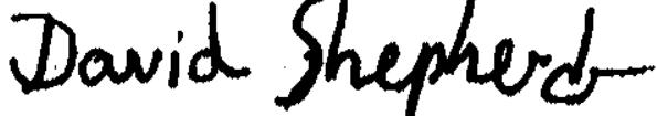 Signature David Shepherd
