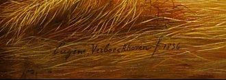 signature eugene verboeckhoven