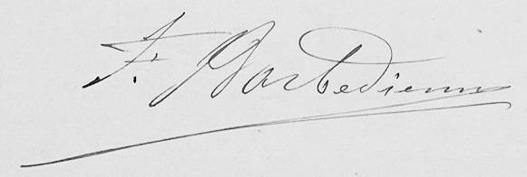 Signature Ferdinand Barbedienne