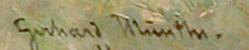 Signature Gerard Munthe