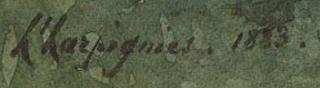 Signature Henri Joseph Harpignies