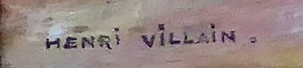 Signature Henri Villain