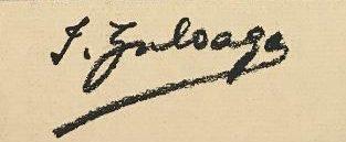 signature ignacio zuloaga