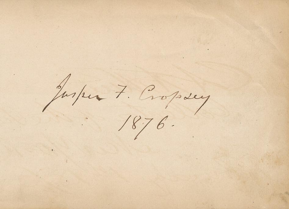 Signature Jasper Francis Cropsey