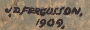 Signature John Fergusson