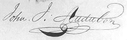 Signature John James Audubon