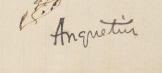 Signature Louis Anquetin