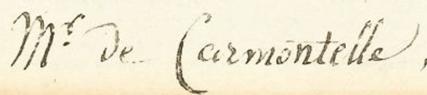 Signature Louis Carmontelle