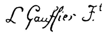 Signature Louis Gauffier