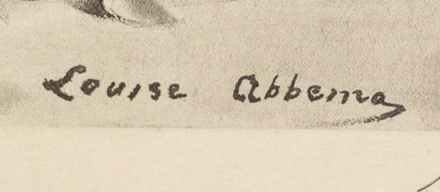 signature Louise ABBÉMA