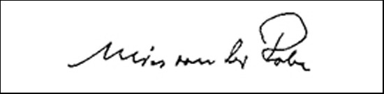 Signature Ludwig Van Der Rohe