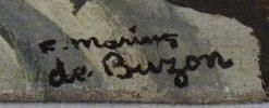 signature marius de buzon