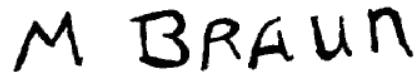 Signature Maurice Braun