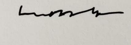 Signature Olivier Mosset
