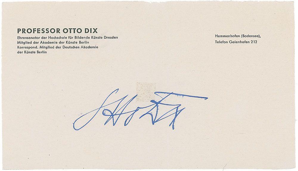 Signature Otto Dix