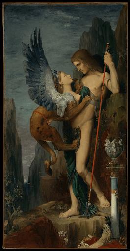 Oedipe et le Sphinx gustave moreau