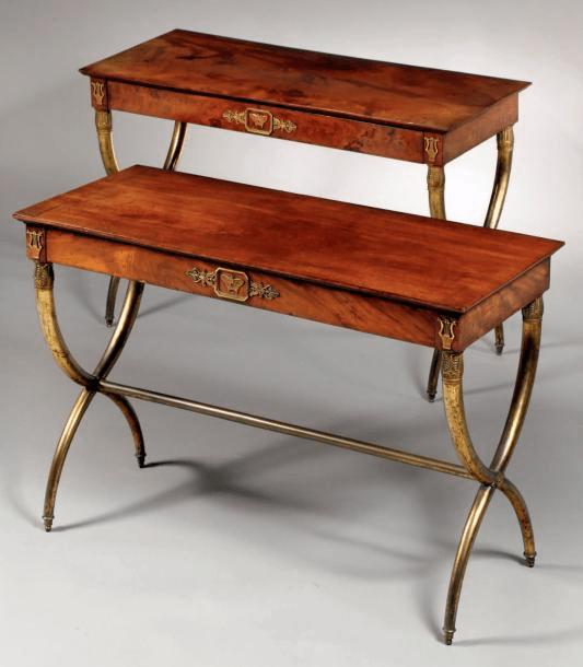 Thomire-Duterme, tables rectangulaires
