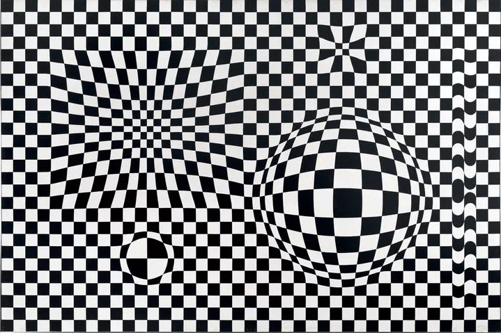 Vasarely, Vega, 1956, Collection particulière