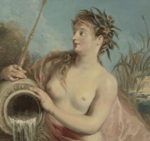 Peinture de nymphe Antoine Watteau