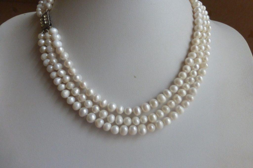 Collier de perles de culture à plusieurs rangs