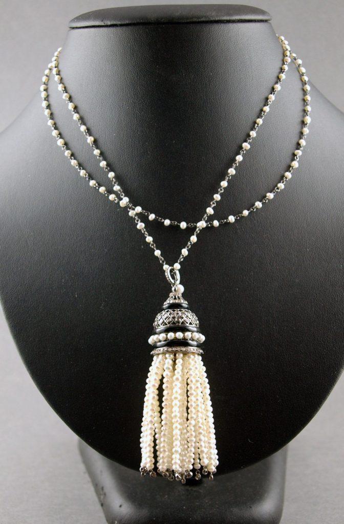 vente aux enchère de Drouot d'un collier à perles de culture