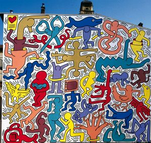 fresque keith haring