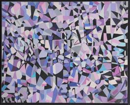 Huile sur toile abstraite de Fahr-El Nissa Zeid