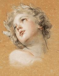"""Oeuvre """"Etude de tête pour l'Amour de la Vertu dans l'Apothéose d'Hercule"""" de François Lemoyne"""