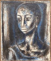 Portrait bleu Gérard Sekoto