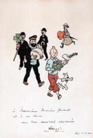 "Oeuvre ""Illustration originale"" d'Hergé"