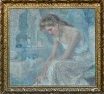 """Oeuvre """"Jeune femme à sa toilette"""" de Jenny Montigny"""