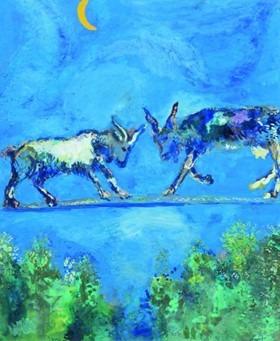 """Oeuvre """"Les Deux Chèvres (Fables de la Fontaine)"""" de Marc Chagall"""