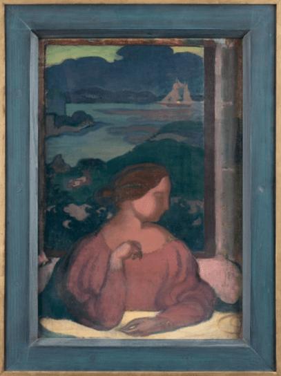 """Oeuvre """"Temps gris sur l'île et Étude de tête pour le «Portrait de Madame Ranson au chat»"""" de Maurice Denis"""