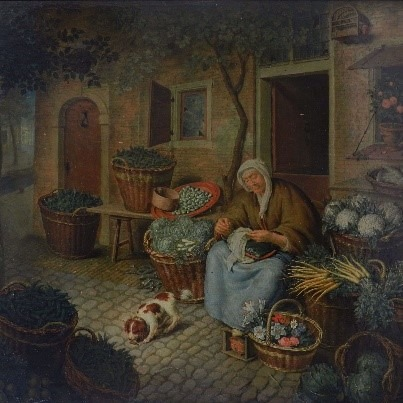 Vendeuse de légumes de Willem Van Mieris