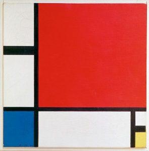 Piet Mondrian, Composition II en rouge, bleu et jaune,