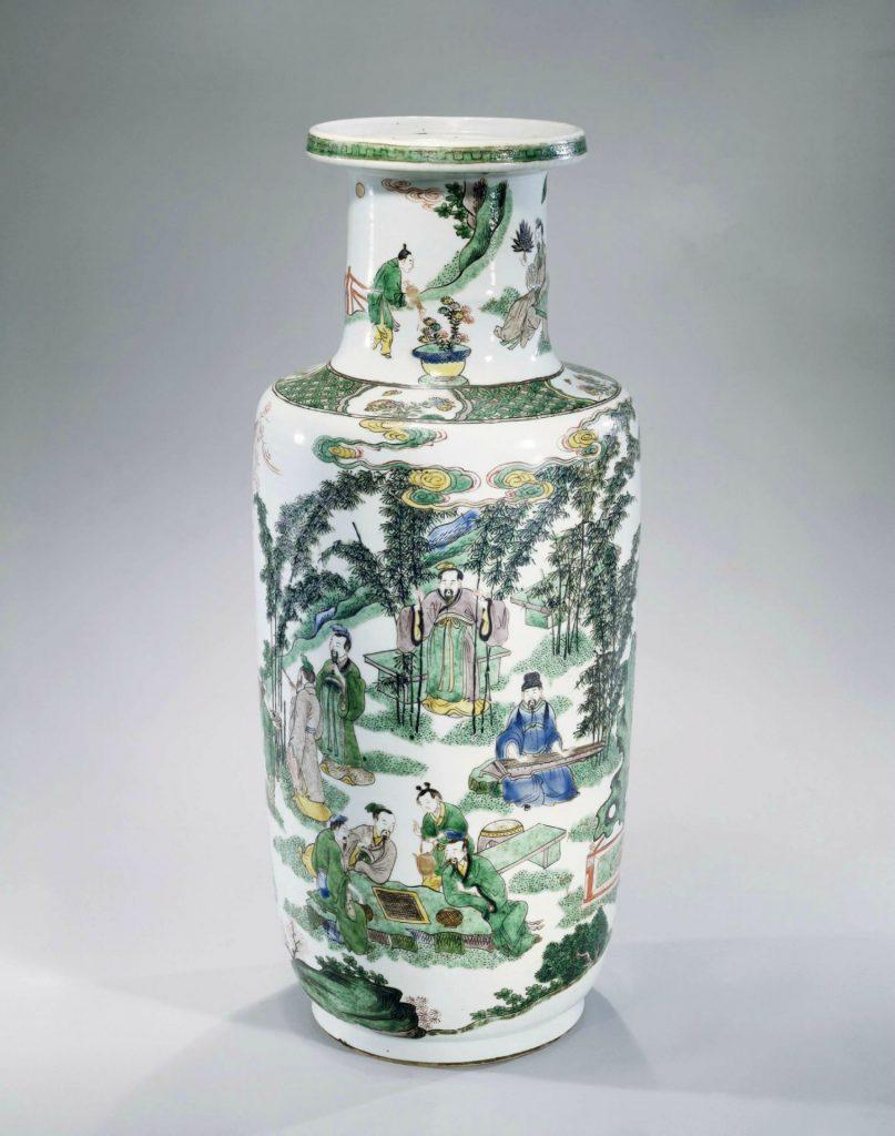 vase famille verte