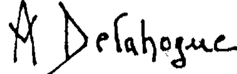 Signature Alexis Auguste Delahogue