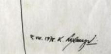 Signature Kalal Laxma Goud