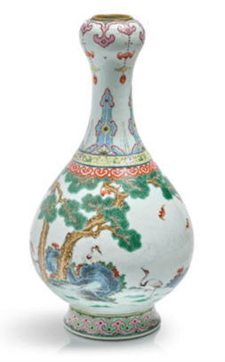 """Oeuvre """"Vase en porcelaine 'Yangcai'"""""""