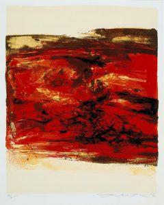 Zao Wou-ki, lithographie Sans Titre