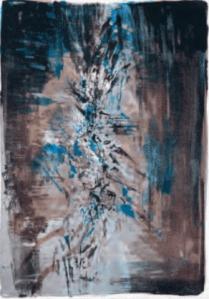 Zao Wou-ki, lithographie Tentation de l'occident